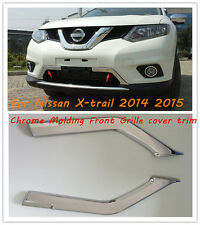 ABS Chrome Front Grille Grill Molding Cover Trim For Nissan X-Trail 2014-2015