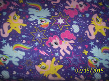 "New Hasbro My Little Pony Cutie Power Fleece Fabric 1 yard 3"" x 59"" Piece"