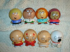 FAMILY GUY BUILDABLE BALL FIGURES LOT OF 8 STEWIE PETER BRIAN LOIS MEG