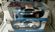 Maisto 2015 Ford Mustang GT 1:18  Car Police  an 2010 Chevy Camaro police