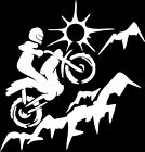 DIRT BIKE MOTOCROSS VINYL DECAL STICKER for TRUCK SUV WINDOW or LAPTOP design#2