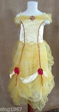 5 / 6 Disney Store Belle Princess costume deluxe dress up yellow red holiday