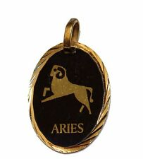 Aries Horoscope Zodiac Medal - Aries Pendant 18k Gold Plated Medal with Chain