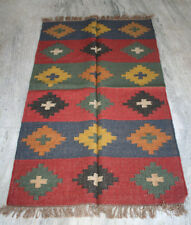 "Anatolia Turkish Antalya Kilim 60"" X 36""  Area Rug Kelim Carpet Wool Jute"