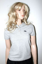 Ladies Fila Polo Shirt Grey Top Sports T-Shirt Size Small S (uk 8-10) New