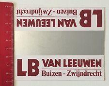 Aufkleber/Sticker: LB Van Leeuwen - Buizen Zwijndrecht (100616151)