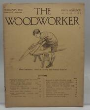 Vintage The Woodworker Magazine February 1930
