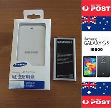 Samsung S5 I9600 Retail White Charger Dock Kit Includes Battery No NFC - Local