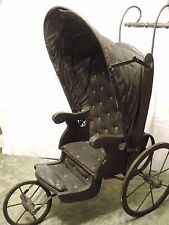 Antique 3-wheel Joel Ellis doll buggy/carriage
