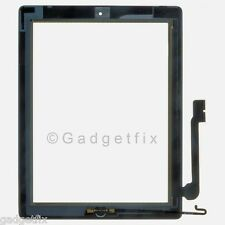 White Touch Screen Glass Digitizer Home Button Flex Adhesive for Ipad 4th 4 Gen