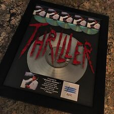 Michael Jackson Thriller 5X Platinum Record Album Disc Music Award Grammy RIAA