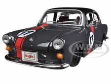 VOLKSWAGEN 1600 NOTCHBACK GREY #17 1/24 DIECAST MODEL CAR BY MAISTO 31042