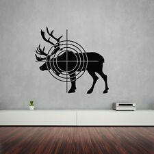 Wall Stickers Vinyl Decal Elk Hunting Target Animal ig1484