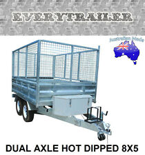 NEW DUAL AXLE HOT DIPPED 8X5 GAL TRAILERS Finance Available! Take Home Today!