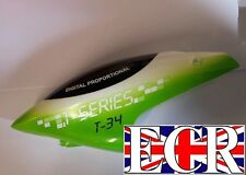 NEW MJX T34 RC HELICOPTER PARTS & SPARES CANOPY HEAD COVER GREEN