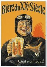 """Vintage Werbeschild """"1930 BIERE DU XXEME SIECLE""""WERBUNG,ADVERTISING,POSTER,RETRO"""