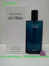 DAVIDOFF COOL WATER FOR MEN 4.2 FL OZ / 125 ML EDT NEW IN TESTER BOX WITH CAP