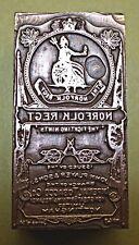 "A CIGARETTE CARD ""NORFOLK REGIMENT"" PRINTING BLOCK."