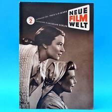 Neue Filmwelt 2/1951   Filmspiegel  DDR   Erwin Geschonnek Ina Halley H. Klering