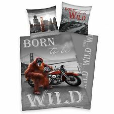 BORN TO BE WILD ORANGUTAN SINGLE DUVET COVER SET KIDS BEDDING NEW FREE P+P