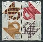 USA - MNH Block of 4 Stamps - 13c Quilts
