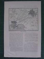 1917 WWI WW1 PRINT ~ MAP OF ATHENS & PIRAEUS ~ HARBOUR RAILWAYS