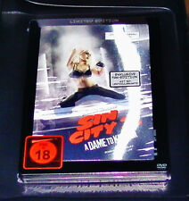 SIN CITY 2 A DAME TO KILL FOR LIMITED LENTICULAR STEELBOOK FAN EDITION DVD NEU