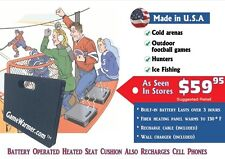 GameWarmer™- Rechargeable Battery Operated Heated Stadium Seat Cushion