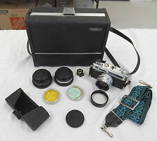 Used Yashica Electro 35 Film Photo Camera (Case, Strap, Lenses, Travel Box)