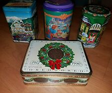 Lot Of 4 Vintage Collectable Christmas Tins