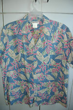 Cooke Street  XL  Hawaiian Heliconia Rostrata on Blue 100% Cotton/Mint