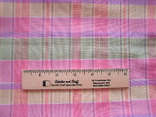 FABRIC QUILT quilting 2 YARDS PLAID PASTELS EASTER pink BABY NURSERY toddler