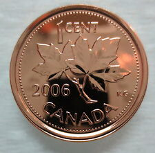 2006P CANADA 1 CENT STEEL PROOF-LIKE MAGNETIC PENNY