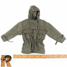 MISC PARTS : Jackets - Green Hooded Jacket - 1/6 Scale Action Figures