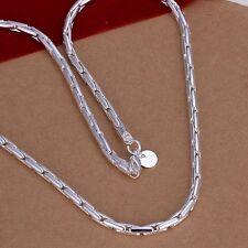 Plata De Ley Maciza 925 Collar De Cadena pulgadas Envío Gratuito HOT SALE