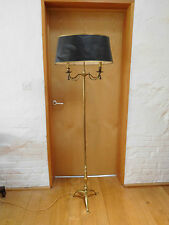 Antique Brass Standard Lamp With Rope & Tassel Detail - BOUILLOTTE