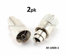 2-PACK UHF PL259 Plug Solder Connector for RG8 w/ REDUCER for RG8X Included