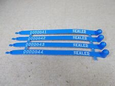NEW Lot of 4 Lockout Tags 0000041 0000042 0000043 0000044 *FREE SHIPPING*