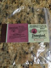 VINTAGE Disneyland E tickets(2) from 25th Anniversary booklet