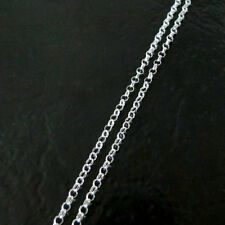 32 Inch .925 Sterling Silver 2.5mm Rolo Chain Necklace With Lobster Clasp