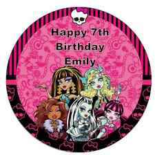 "Monster High 7.5"" Personalised Cake Topper Edible Wafer Paper Birthday Party"