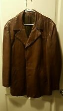 Original by Peter Caruso Mens Authentic Leather Jacket size 46 Brown (XXL)