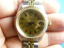 14K Solid Gold Bezel Tudor Princess Oysterdate Swiss 2671 Automatic Women Watch