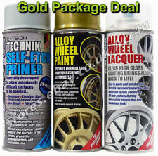 E-Tech Professional GOLD Car Alloy Wheel Spray Paint Lacquer Self Etch Primer