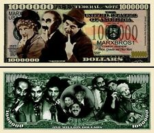 MARX  BROTHERS Novelty Dollar Bill with Protector and Free shipping Buy Now