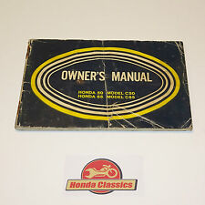 Honda Vintage Classic C50 C65 Owners Drivers Manual Handbook. HOM039