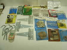 Lot of hardware: hinges , cupboard magnetic catch, hooks  - crafts / repurpose