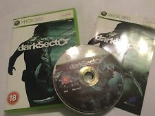 XBOX 360 GAME DARK SECTOR +BOX & INSTRUCTIONS / COMPLETE PAL DISC VGC