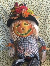 VERY AUTUMN & Halloween Big Fiber Optic Color Changing Scarecrow Scare Crow 29in