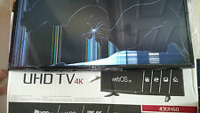 LG 4K UHD Smart TV de 43 Pulgadas-Pantalla Repuestos o reparaciones destrozada
